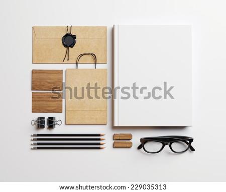 Set of blank elements - stock photo