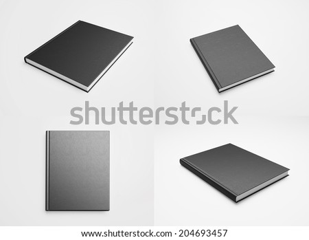 Set of blank textbooks - stock photo