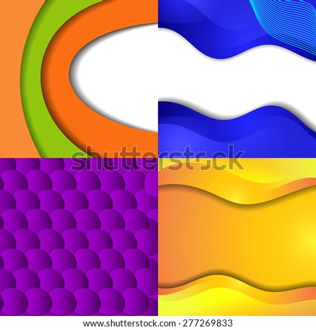 Set of bright abstract backgrounds.  - stock photo