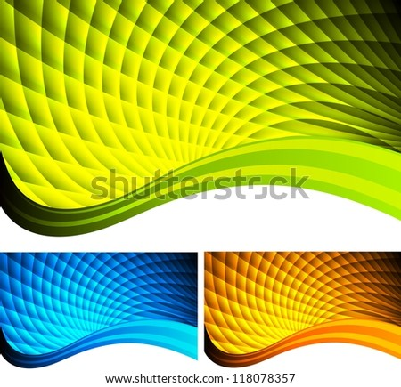 Set of bright abstract banners - stock photo