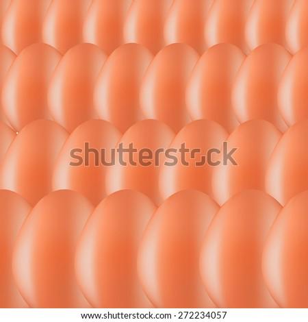 Set of Brown Organic Eggs. Eggs Background. - stock photo
