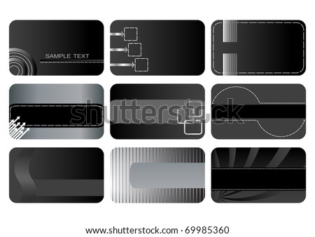 Set of Business cards. The similar image in my portfolio in vector format. - stock photo