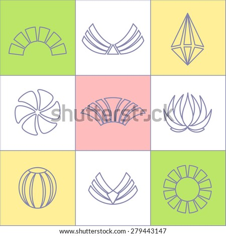 Set of business icons contour Plot on chessboard.Labels, badges and design elements.Business Logo Flat Collection - stock photo