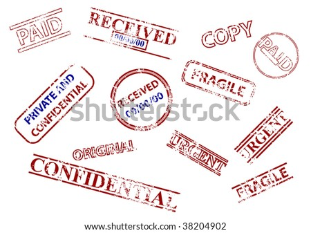 Set of business stamps - stock photo