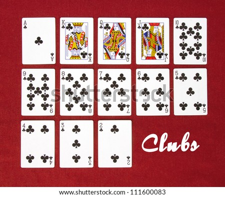 Set of Cards...All the Clubs! - stock photo