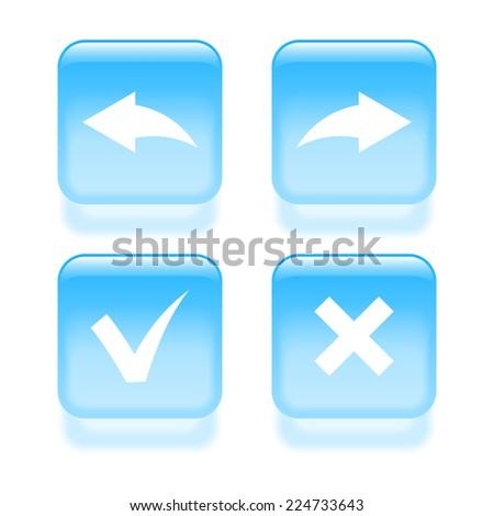 Set of check mark icons. 2d illustration - stock photo