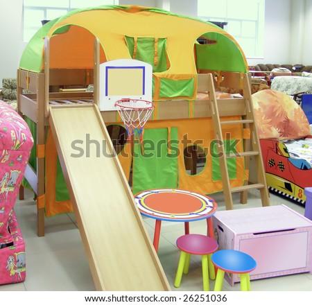 set of children's furniture - stock photo