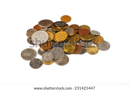 set of coins World - stock photo
