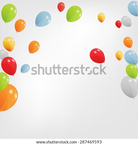Set of Colored Balloons,  Illustration. EPS 10 - stock photo