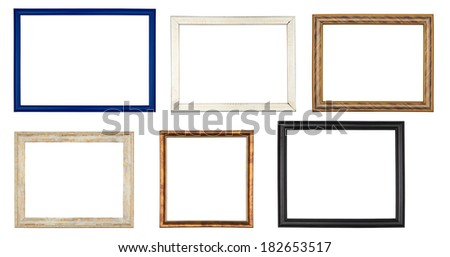 Set of colored frames isolated on white background - stock photo