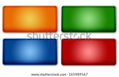 Set of colorful UI website buttons design elements - stock photo