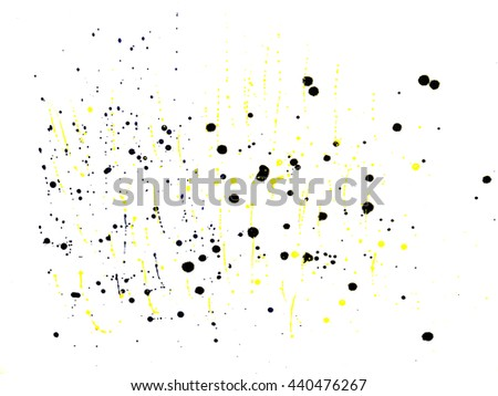 Set of colorful watercolor hand painted splashes  on white background - stock photo