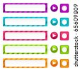 Set of colorful web buttons and icons. - stock photo