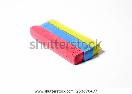 set of crayons for art and drawing - stock photo