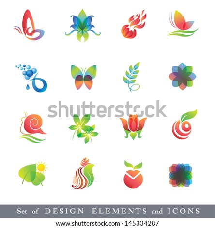 icons for abstract logo   Abstract Butterfly Logos
