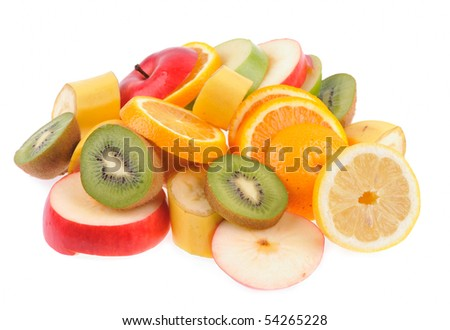 set of different fruits - stock photo