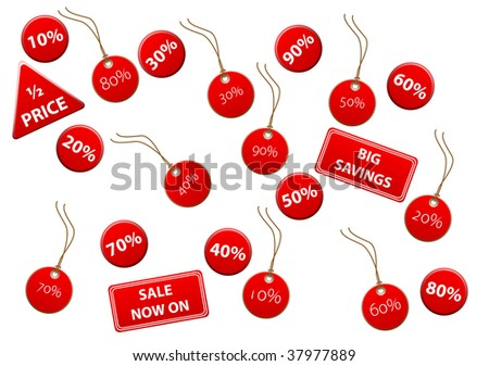 Set of discount labels - stock photo