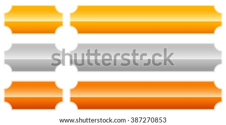 Set of  gold, silver, bronze.plaque, plaquette, banner backgrounds. - stock photo