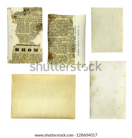 set of grunge cards - stock photo