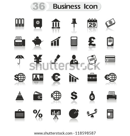 set of icons for design - stock photo