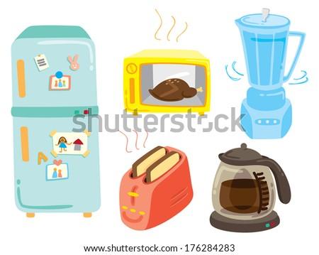 set of kitchen equipment icon - stock photo