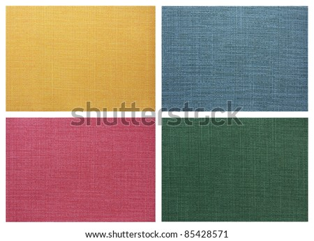 set of Linen canvas texture - stock photo