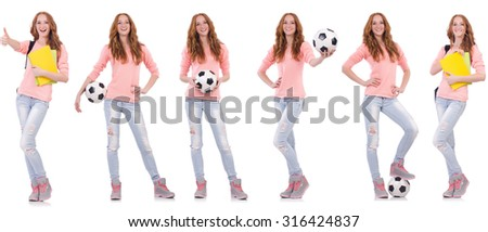 Set of model photos in health concept - stock photo
