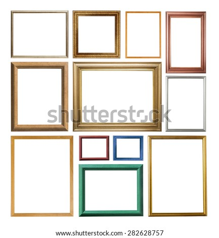 set of modern frame isolated on white  - stock photo