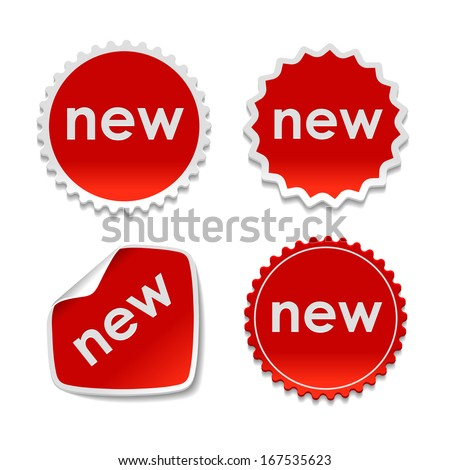Set of  Paper Design Tags and Labels / New Stickers.  - stock photo