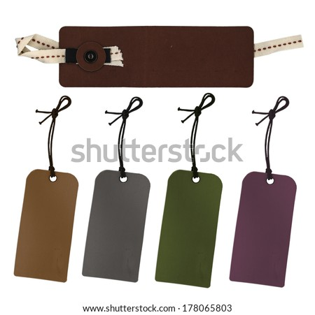 Set of  paper tags   - stock photo