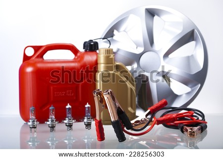Set of parts of car - stock photo