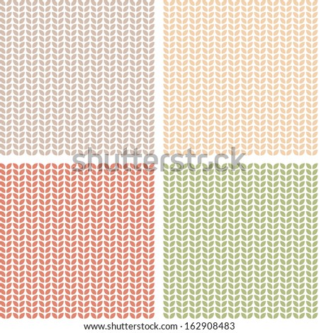 Set of patterns with leaves. Raster version - stock photo