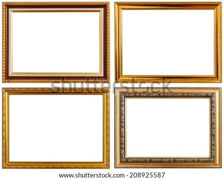 Set of Photo frame isolated on white background - stock photo