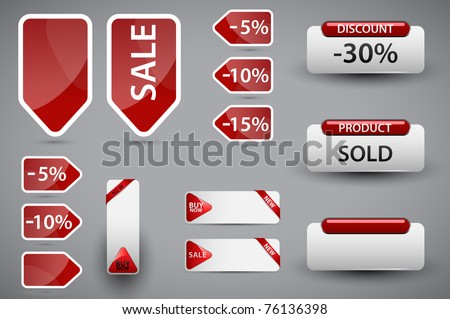 Set of price tags. Vector version available in my gallery. - stock photo