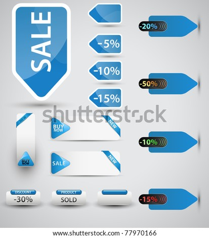 Set of price tags. You can use it for any sale time or seasons.Vector version available in my gallery. - stock photo