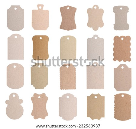 set of sale tags, label card  - stock photo