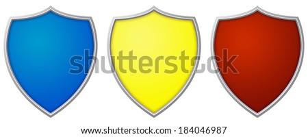 Set of Shields - stock photo
