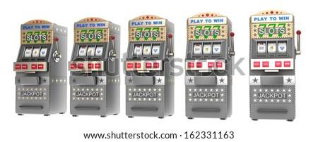 Set of slot machines - stock photo
