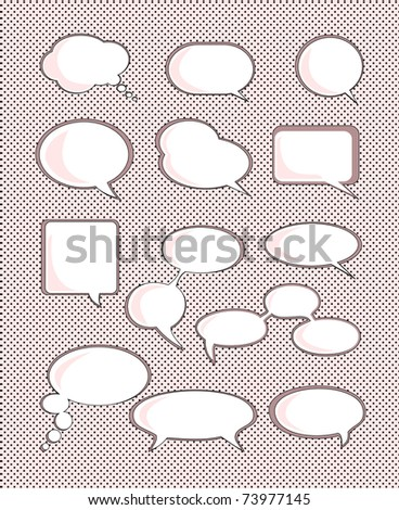 Set of speech bubble with space for your text - stock photo