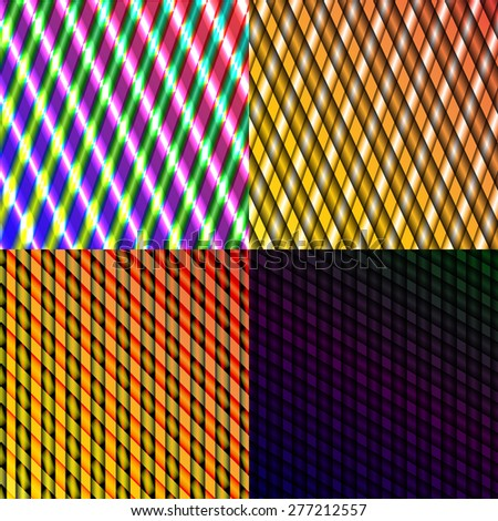Set of splash color abstract  glowing  background. illustration - stock photo