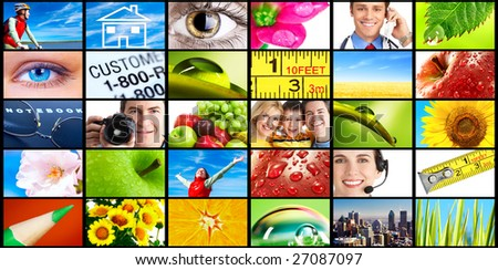 Set of stock images - stock photo