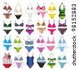 set of swimsuit - stock photo