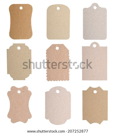 Set of tags isolated on white , label cards - stock photo