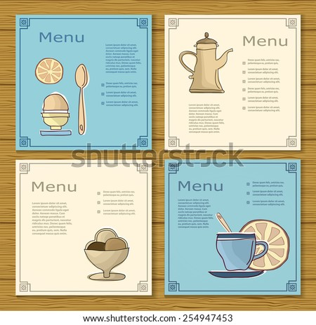 Set of templates decorative menu restaurant or bar. - stock photo