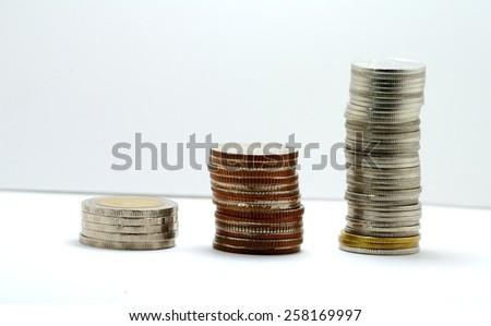 Set of Thailand banknotes - stock photo