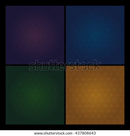 Set of the arabic patterns. - stock photo