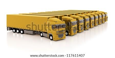 Set of the trucks - stock photo