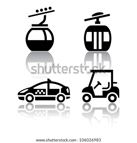 Set of transport icons - sport. Eps version also available in my image gallery - stock photo