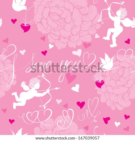 Set of Valentine`s Day horizontal, vertical, oval banners with Red hearts confetti and old paper scrolls. Raster version - stock photo