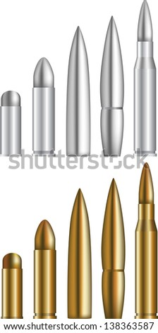 Set of various bullets - stock photo
